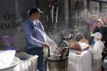 Brända mandlar i produktion